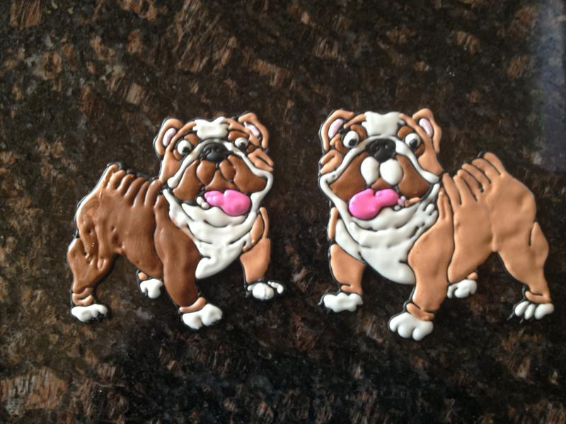 Bulldog Cake Toppers